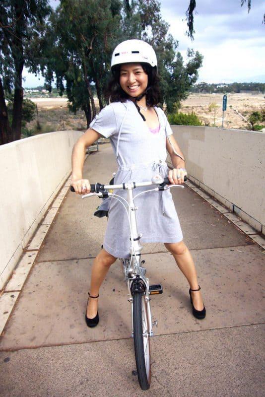 I love my foldable bike!