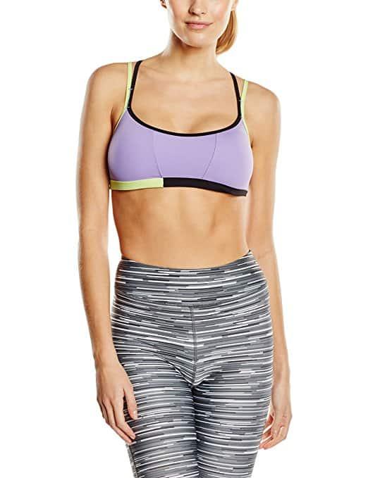 90db65ff9cf44  4 La Isla Women s Padded Wire Free Cool-look Criss Cross Back Yoga Sports  Bra
